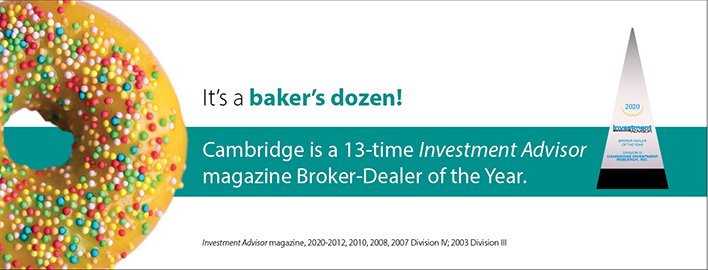 Cambridge Honored as 13-time Broker-Dealer of the Year 2020